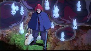 Mononoke-7 eboshi holding forest spirit's head