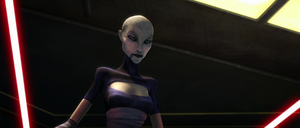 Ventress looking down