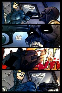 Black Mask's death at Catwoman's hands.