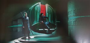 Dark Rey and Kylo concept art