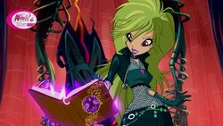 Selina summoning spells using legendarium