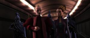 Chancellor Palpatine Padmé guards
