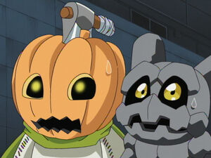 Gotsumon & Pumpkinmon
