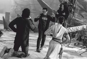 TROS Palpatine, Rey and Ben - behind the scenes