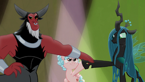 Tirek, Cozy, and Chrysalis teaming up S9E8