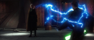 Anakin Skywalker lightning-tangled