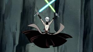 Asajj Ventress Jedi lightsabers arena