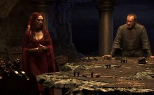 Stannis Melisandre painted table