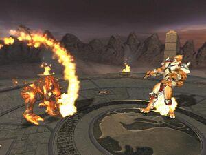 Blaze vs. Kintaro in Armageddon