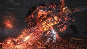 Dark Souls 3 Ringed City Demon Prince Boss Fight (4K 60fps)
