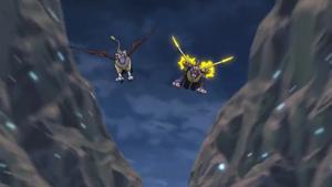 Gryphonmon and MetalGarurumon (The battle continues)