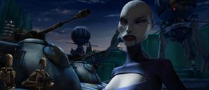 Asajj ordering invasion droids