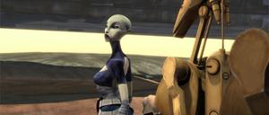 Asajj describing droid