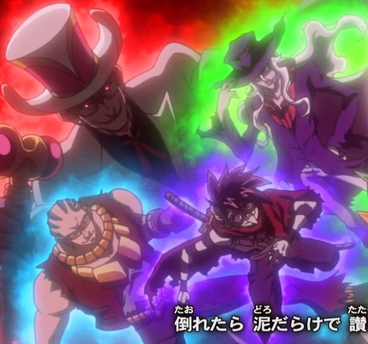 The Fearsome Four of the Dark Duelling World
