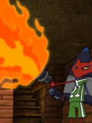 Katz with a flamethrower