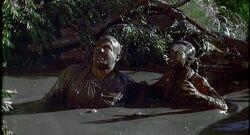 Regina and Floyd in mud