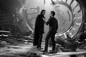 TROS Adam Driver and J.J. Abrams - behind the scenes