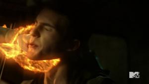 Teen Wolf Season 5 Episode 7 Strange Frequencies Theo gets clocked