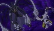 MarineDevimon and Gatomon in fight