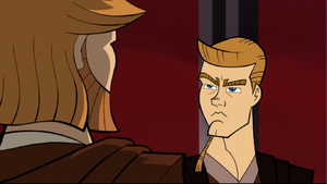 Anakin scowling