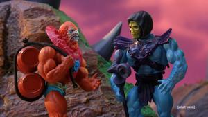 Beast Man with Skeletor in Robot Chicken