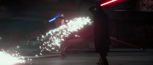 Anakin Skywalker raining sparks
