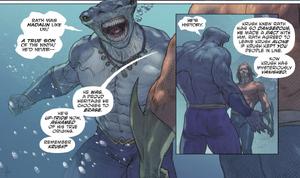 King Shark know history of Krush