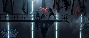 Kylo vs Rey concept art
