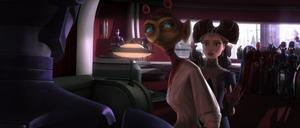 Chancellor Palpatine security droids