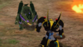 Bumblebee and Flamesnort's showdown