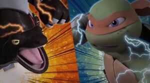 Michelangelo and Newtralizer's epic final battle