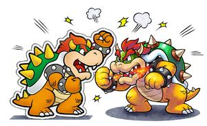 Bowser and Paper Bowser - Paper Jam