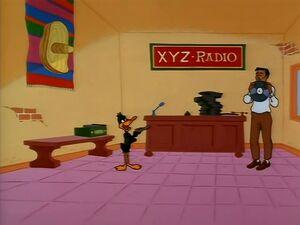 DaffyHoldsUpRadio