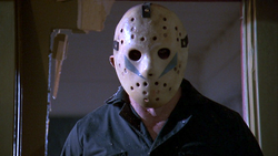 Roy Burns disgused as Jason in Friday the 13th Part 5 A New Beginning