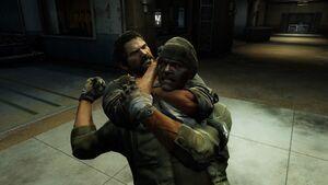 Joel chokes Firefly