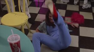 Roxanne hitting the ground
