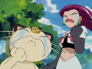 Jessie and Meowth Are Sad For James
