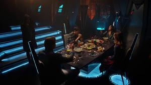 Mon-El and Kara dine with Lar Gand and Rhea