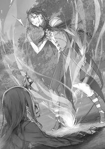 ReZero Volume 14 Hector vs. Roswaal Illustration