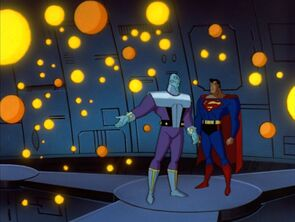 Brainiac shows Superman
