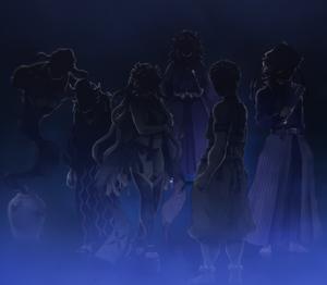 Silhouette of Upper Rank Demons