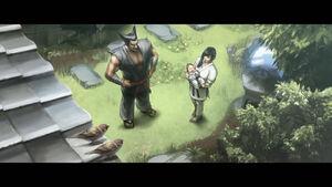 Kazumi with Heihachi and baby Kazuya