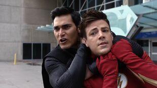 Deegan threatens to snap Barry's neck