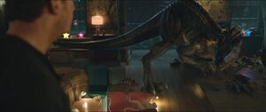 Indoraptor facing Owen Grady