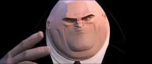Kingpin asking about the two Spider-Men