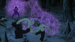 Sasuke saves Itachi