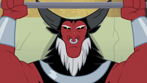 Lord Tirek lifting weights S9E8