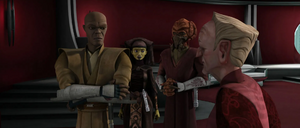 Chancellor Palpatine Jedi discuss