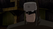 Evil grin Batman