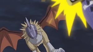 Gryphonmon is after MetalGarurumon